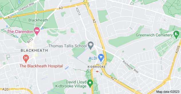 Map of Kidbrooke, London SE3 0DY