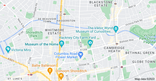 Map of Haggerston, London E2 8NU