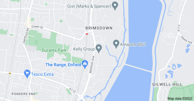 Map of Brimsdown, Enfield EN3 7PW