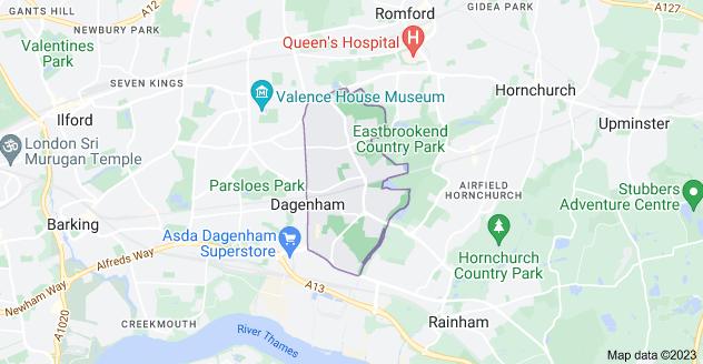 Map of Dagenham RM10