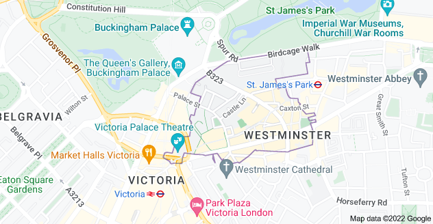 Map of Westminster, London SW1E