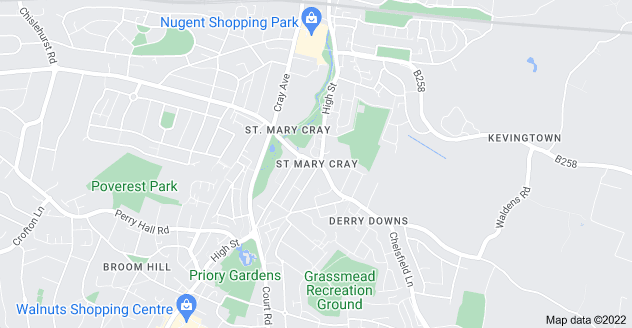 Map of St Mary Cray, Orpington BR5 4AD