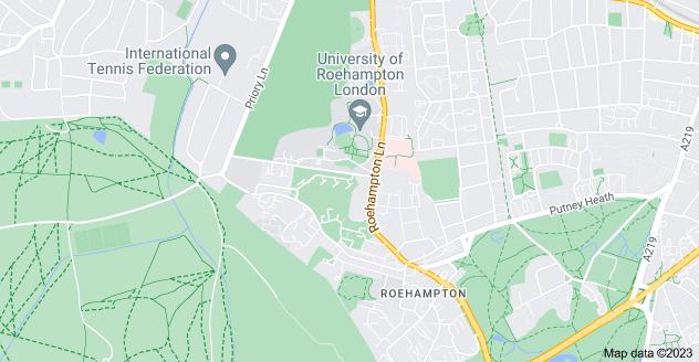 Map of Roehampton, London SW15 4PY
