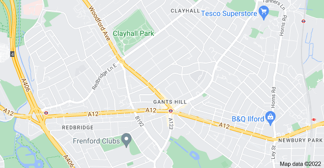Map of Gants Hill, Ilford IG2 6TR