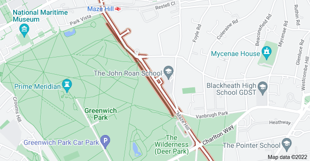 Map of Maze Hill, London SE10 8XQ