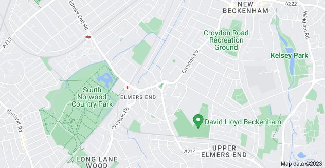 Map of Elmers End, Beckenham BR3 4DG