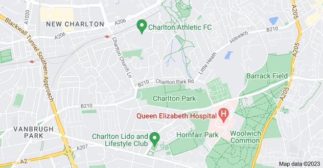 Map of Charlton, London SE7 8UB