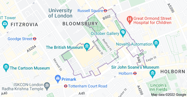 Map of London WC1B