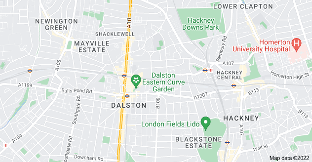 Map of Dalston, London E8 2NU