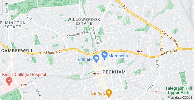 Map of Peckham, London SE15 5JR