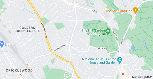 Map of Childs Hill, London NW3 7TN