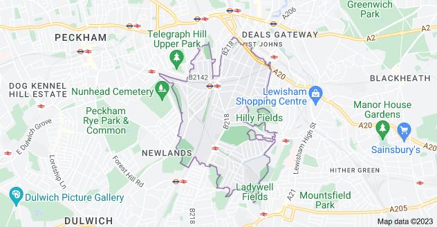 Map of London SE4