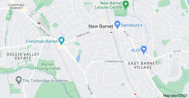 Map of New Barnet, Barnet