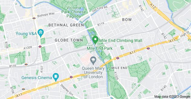 Map of Mile End, London E1 4PU
