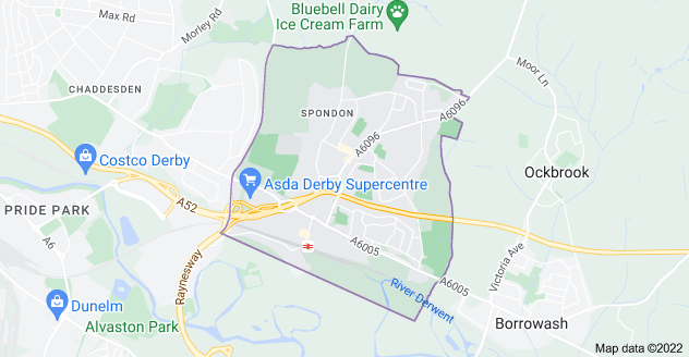 Map of Spondon, Derby