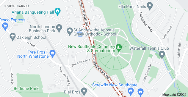Map of Brunswick Park Rd, London