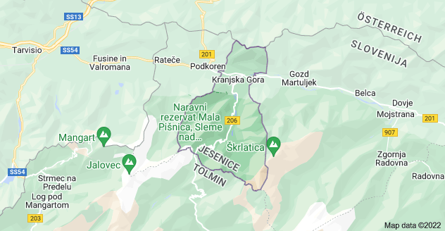 Map of 4280 Kranjska Gora, Slovenia
