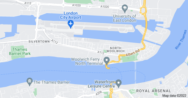 Map of North Woolwich, London
