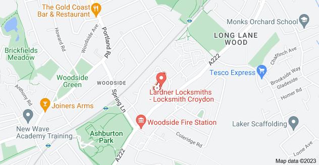 Map of Woodside Way, Croydon CR0 7AT