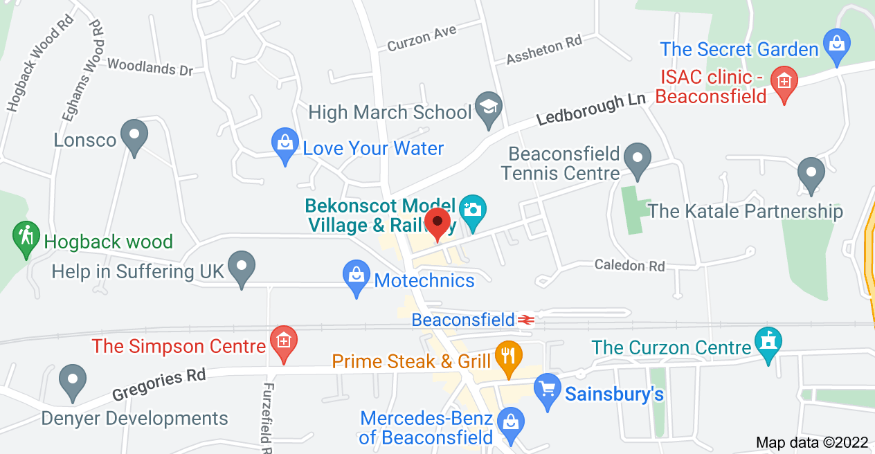 Map of 1 Warwick Rd, Beaconsfield