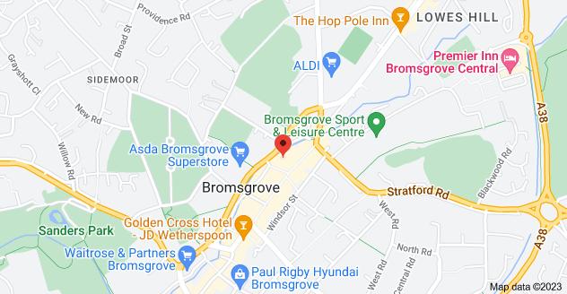 Map of 2 Mill Ln, Bromsgrove B61 8AG
