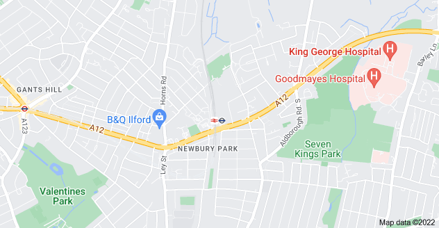 Map of Newbury Park, Ilford IG2 7RN