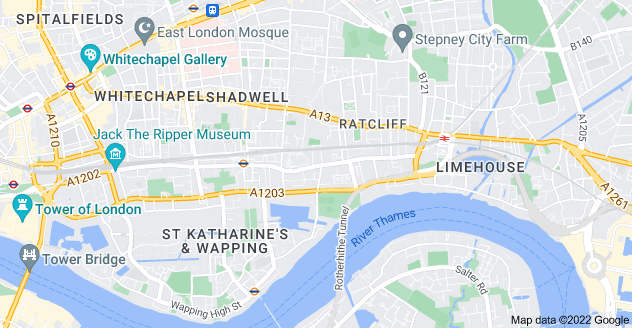 Map of Shadwell, London