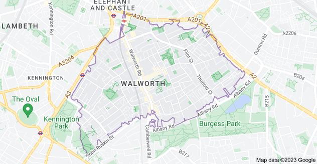Map of London SE17