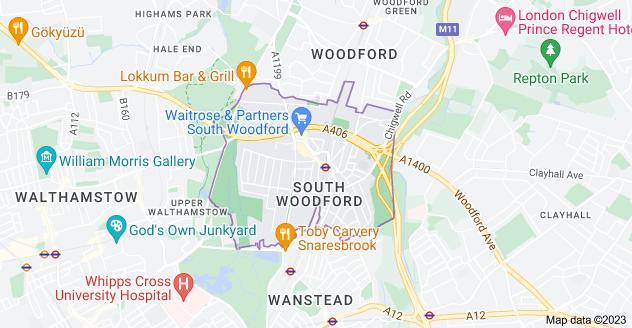 Map of London E18