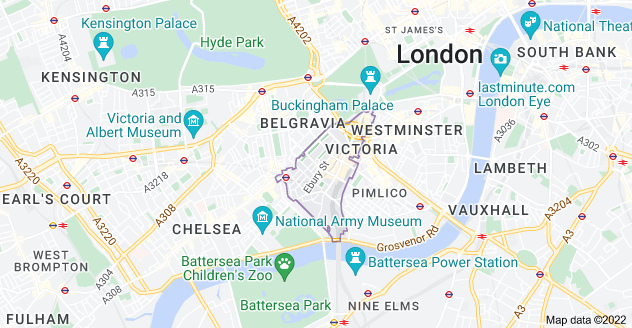 Map of London SW1W