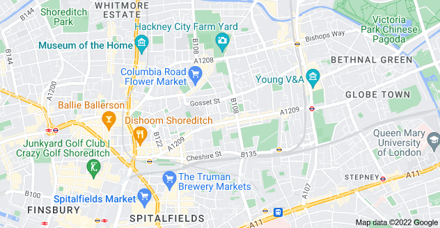 Map of Bethnal Green, London E2 6AU