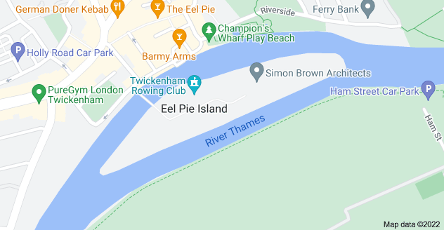 Map of Eel Pie Island, Twickenham