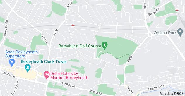 Map of Barnehurst, Bexleyheath DA7 6LS