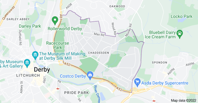 Map of Chaddesden, Derby