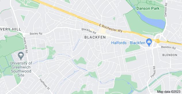 Map of Blackfen, Sidcup DA15 8LS