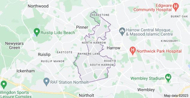 Map of Harrow HA2