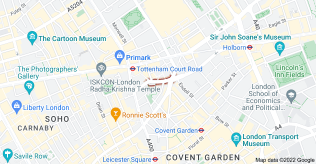 Map of St Giles High St, London
