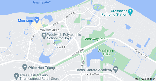 Map of Thamesmead, London SE28 8BB