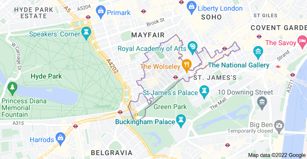 Map of London W1J