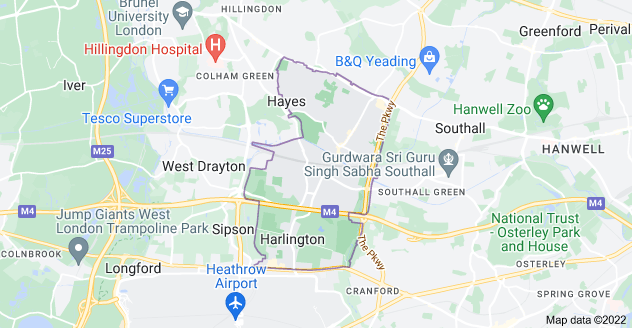 Map of Hayes UB3