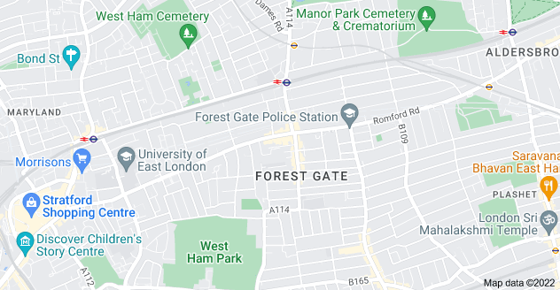 Map of Forest Gate, London E7 8BL