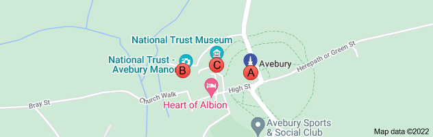 Map of avebury car park national trust