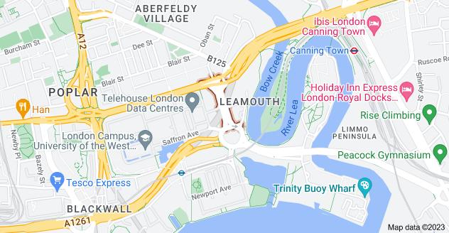 Map of Leamouth Rd, Poplar, London E14 0JJ