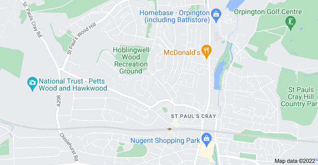 Map of St Paul's Cray, Orpington BR5 2LR