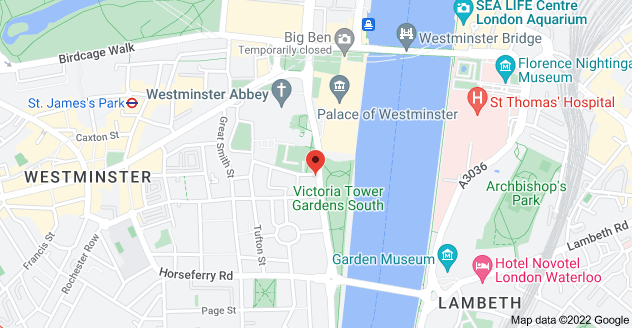 Map of 1 Millbank, Westminster, London SW1P 3LX