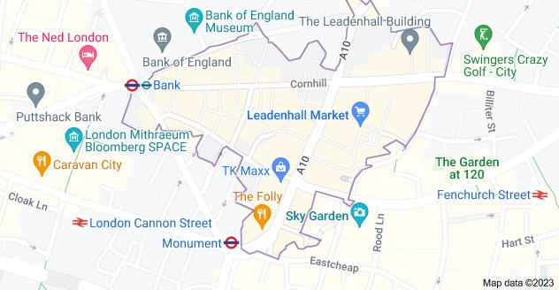 Map of London EC3V