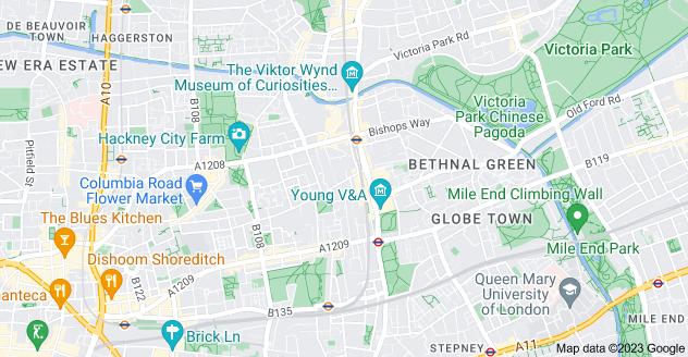 Map of Cambridge Heath, London E2 9RL