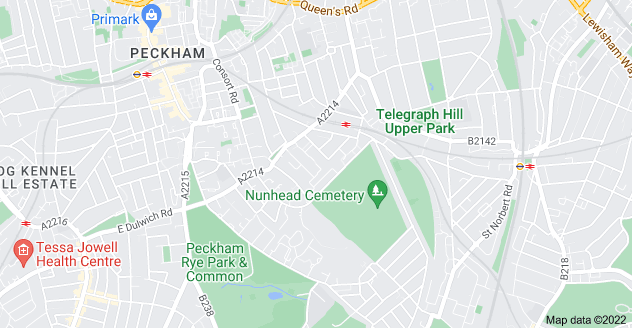 Map of Nunhead, London SE15 3HE