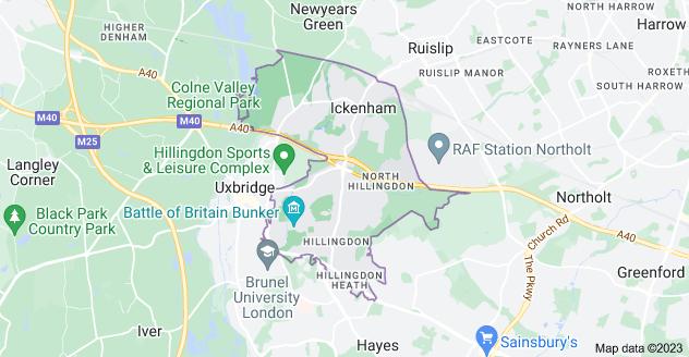 Map of Uxbridge UB10
