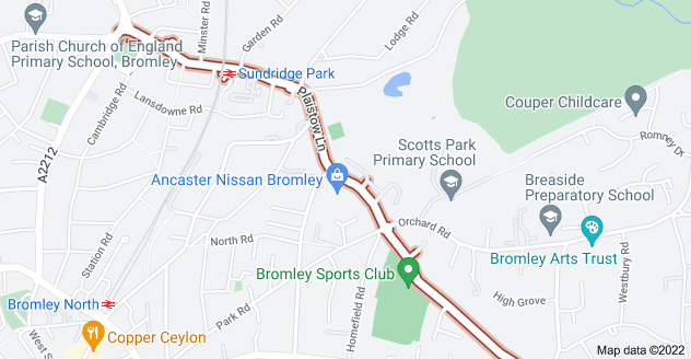 Map of Plaistow Ln, Bromley BR1 3PA